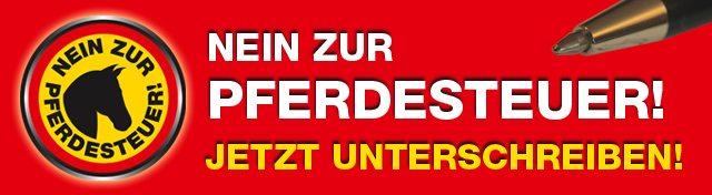 Petition Nordfriesland gegen die Pferdesteuer